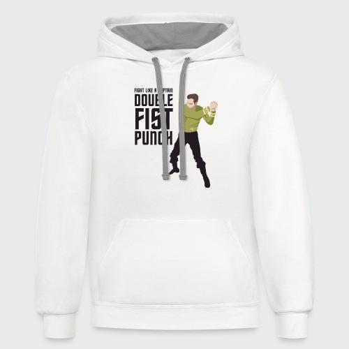 Captain Kirk Double Fist Punch - Contrast Hoodie
