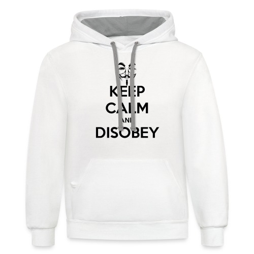 Anonymous Keep Calm And Disobey Thick - Unisex Contrast Hoodie