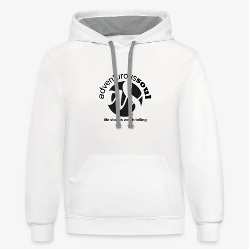 Adventurous Soul Wear - Life Stories Worth Telling - Contrast Hoodie