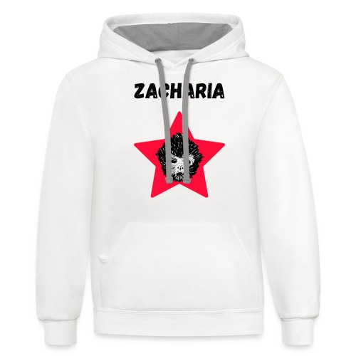 transparaent background Zacharia - Unisex Contrast Hoodie