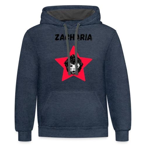 transparaent background Zacharia - Unisex Contrast Hoodie