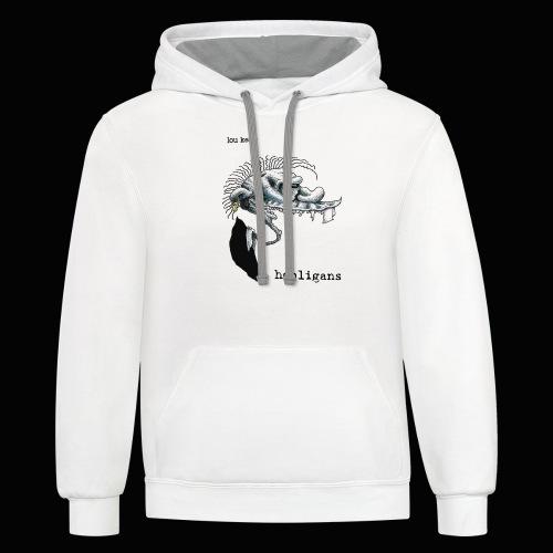 Lou Kelly - Hooligans Album Cover - Contrast Hoodie