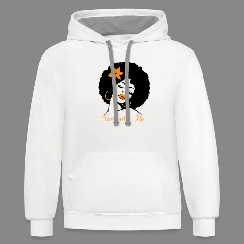 Naturally Fly Afro Diva - Unisex Contrast Hoodie