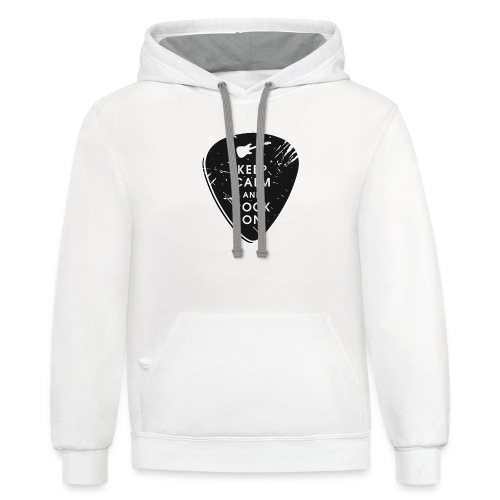 Keep calm and rock on - Contrast Hoodie