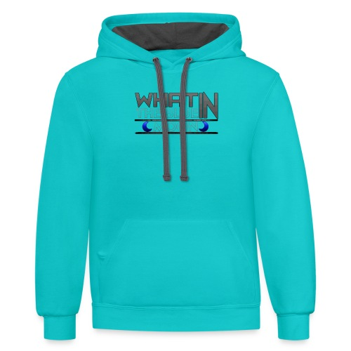 What in the BLUE MOON T-Shirt - Contrast Hoodie