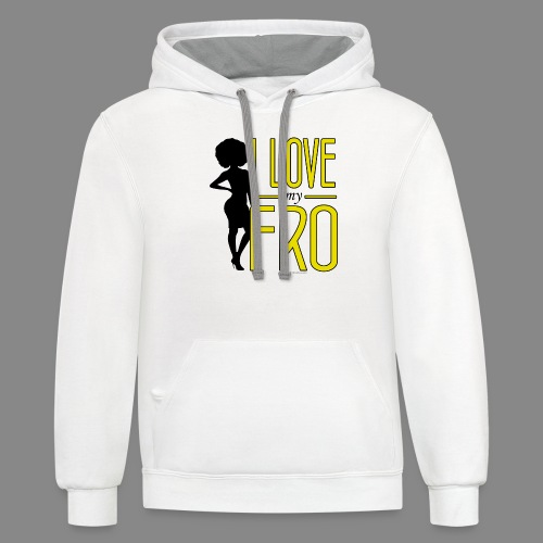 I Love My Fro - Contrast Hoodie