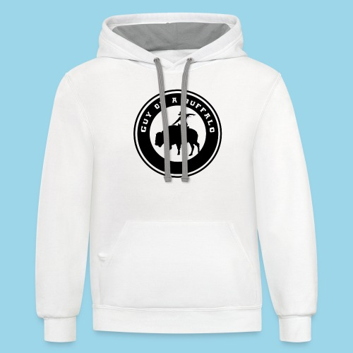 Guy On A Buffalo - Unisex Contrast Hoodie