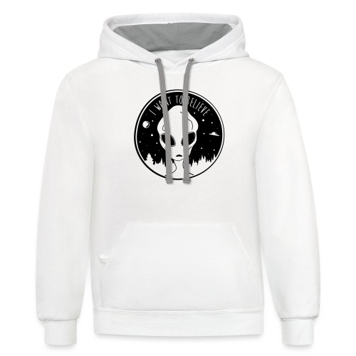 I Want To Believe - Contrast Hoodie