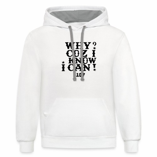 Kids and Babies Positive Affirmation Logo 187 Gear - Contrast Hoodie