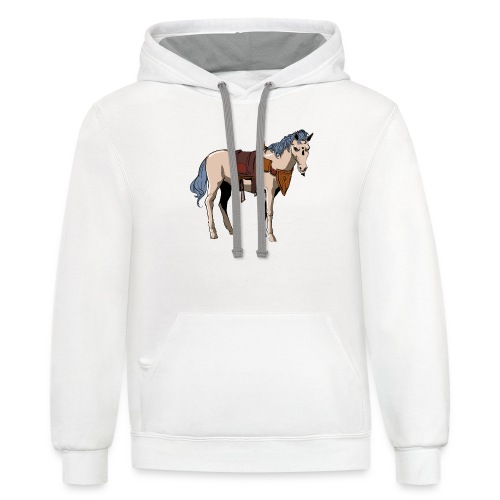 Useless the Horse png - Contrast Hoodie