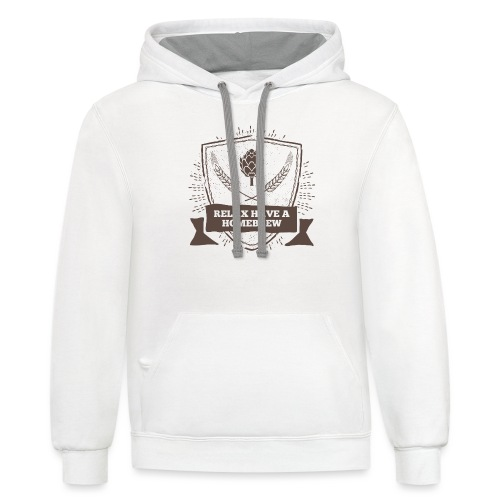 Relax have a Homebrew - Unisex Contrast Hoodie