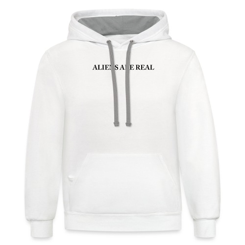 Aliens are Real - Contrast Hoodie