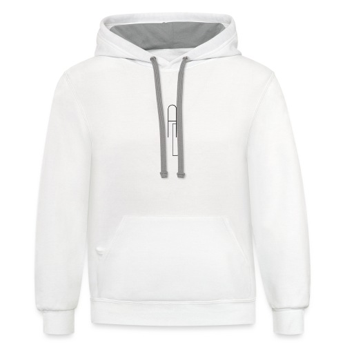 AD Logo no background - Contrast Hoodie