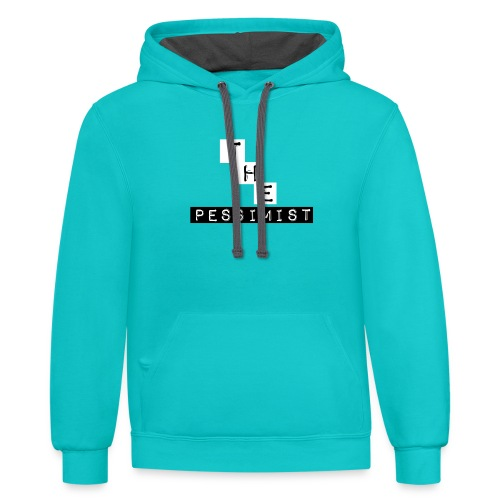 The Pessimist Abstract Design - Contrast Hoodie