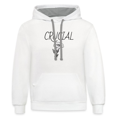 Crucial Abstract Design - Unisex Contrast Hoodie