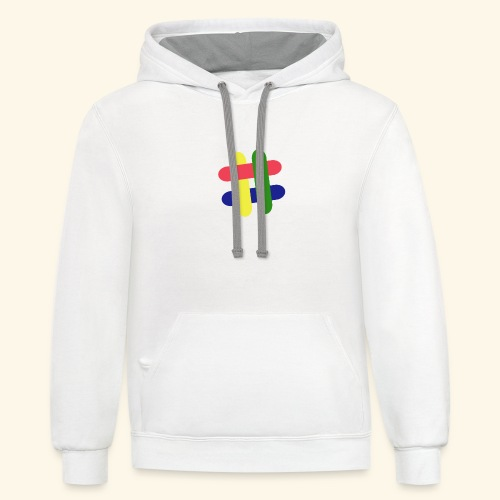 hashtag - Contrast Hoodie