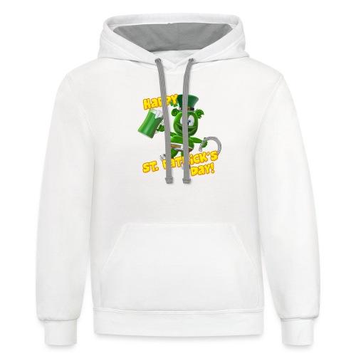 Gummibär (The Gummy Bear) Saint Patrick's Day - Contrast Hoodie