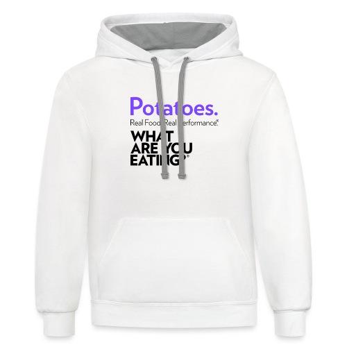 Potatoes. Real Food. Real Performance. - Unisex Contrast Hoodie