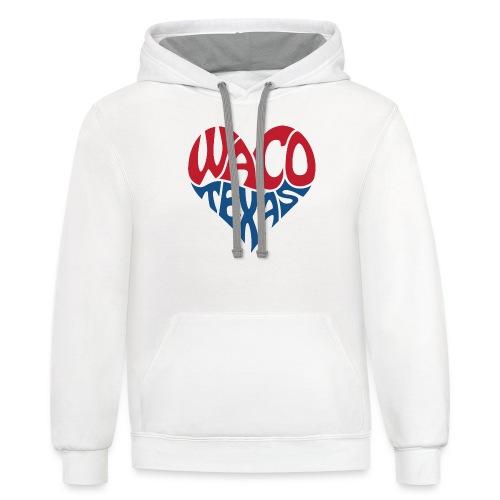 Heart of Waco Texas - Contrast Hoodie