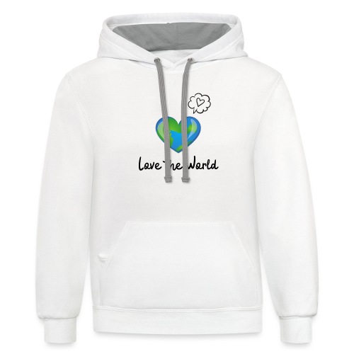 Love the World - Unisex Contrast Hoodie