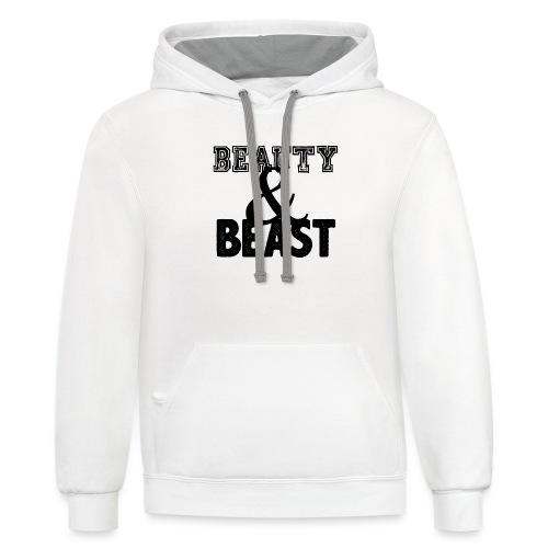 Beauty & Beast Gym Motivation - Contrast Hoodie