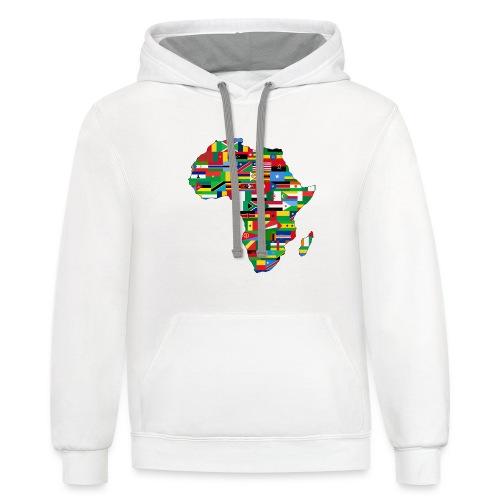 Motherland Africa - Unisex Contrast Hoodie