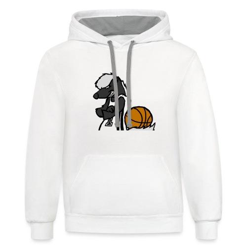 Badgers Basketball LS09 - Unisex Contrast Hoodie