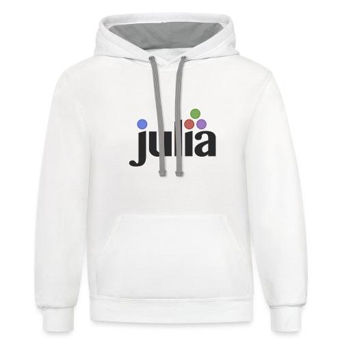 Official Julia Logo - Unisex Contrast Hoodie
