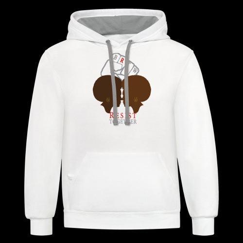 Resist Together Shirt 2 Women png - Contrast Hoodie