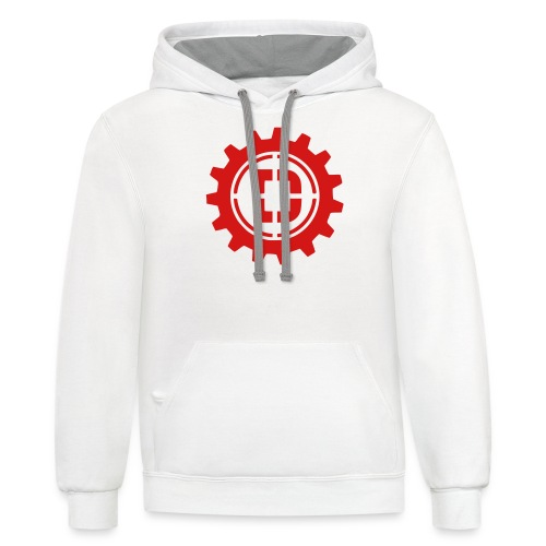 Stacked Logo - Contrast Hoodie