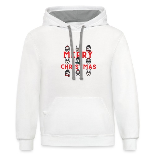 Playful Christmas Occasion T Shirt - Unisex Contrast Hoodie