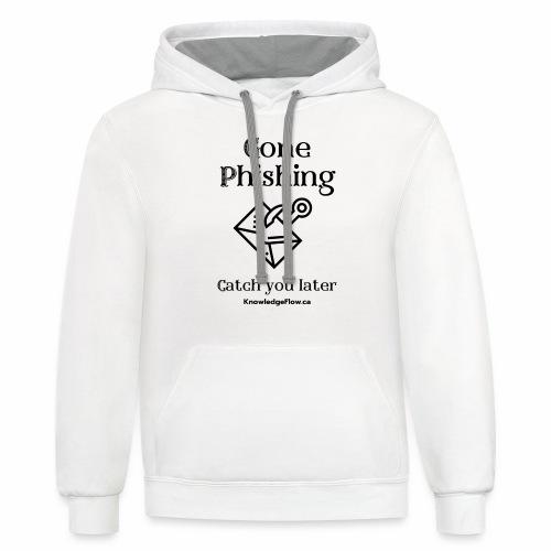 Gone Phishing - Unisex Contrast Hoodie