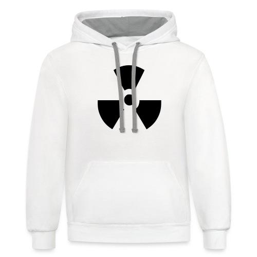 Radiation Symbol - Unisex Contrast Hoodie