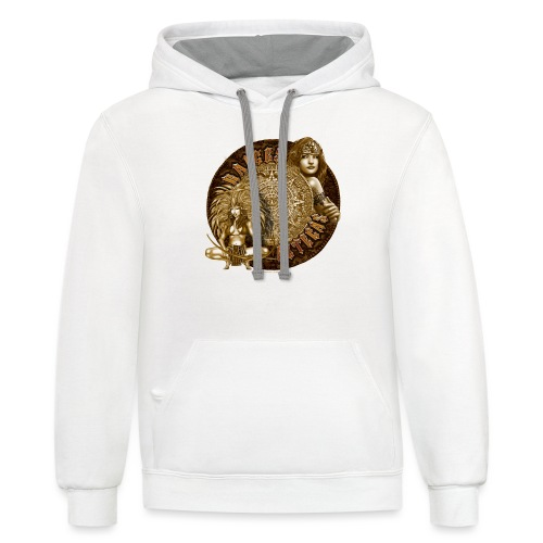 Raices Aztecas by RollinLow - Unisex Contrast Hoodie