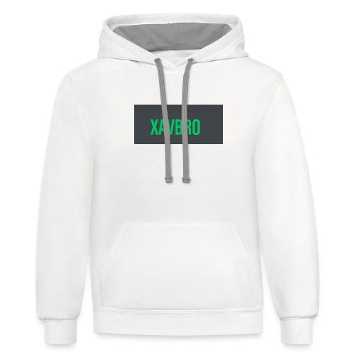 xavbro green logo - Contrast Hoodie