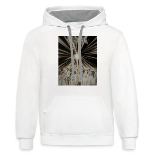 Black_and_White_Vision2 - Contrast Hoodie