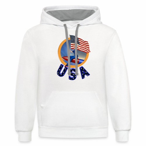 Flag USA - Contrast Hoodie