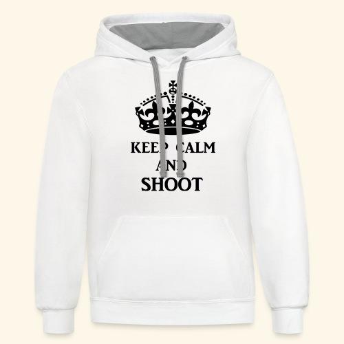 keep calm shoot - Unisex Contrast Hoodie