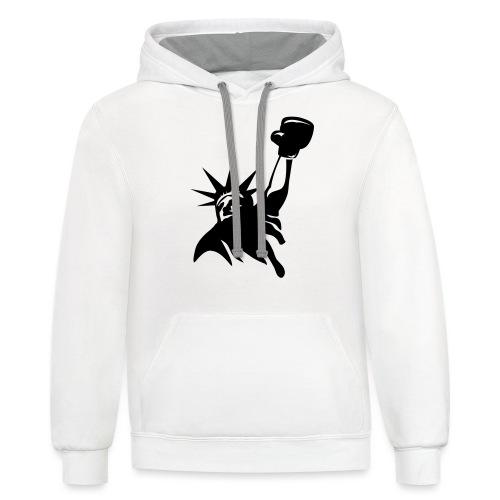 Lady Liberty Design w/ Black RSB Logo - Unisex Contrast Hoodie