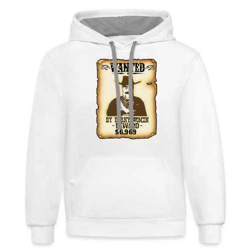 Cowboy Ox-Mad Wanted Poster! - Unisex Contrast Hoodie