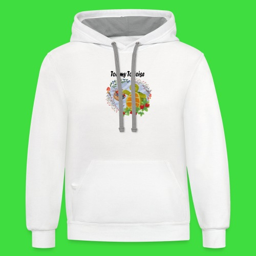 Tommy Tortoise white - Unisex Contrast Hoodie