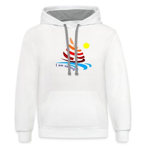 i am sailing - Contrast Hoodie