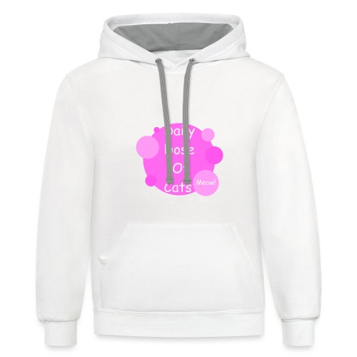 Daily Dose Of Cats - Unisex Contrast Hoodie