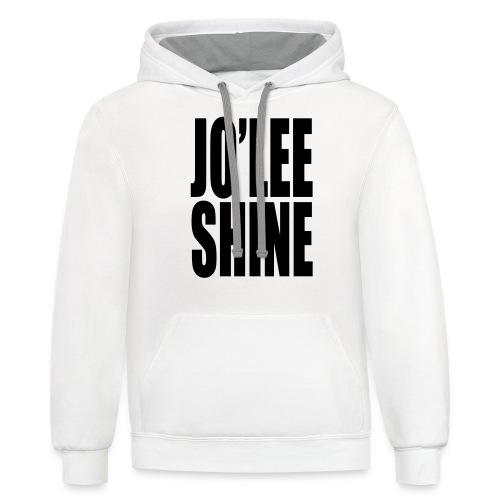 JO'LEE SHINE WOMEN'S T SHIRT WHT/PNK - Contrast Hoodie