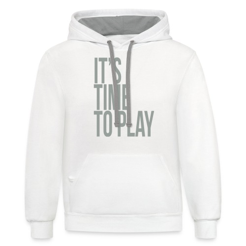 It's time to play - Unisex Contrast Hoodie