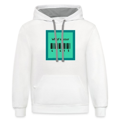 What's Your 41415 - Publix Associate Barcode Shirt - Unisex Contrast Hoodie