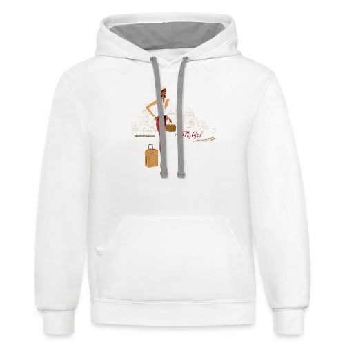 BrowOutfitPNG png - Unisex Contrast Hoodie
