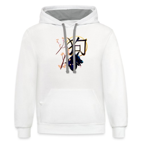 The Year Of The Dog-black - Contrast Hoodie