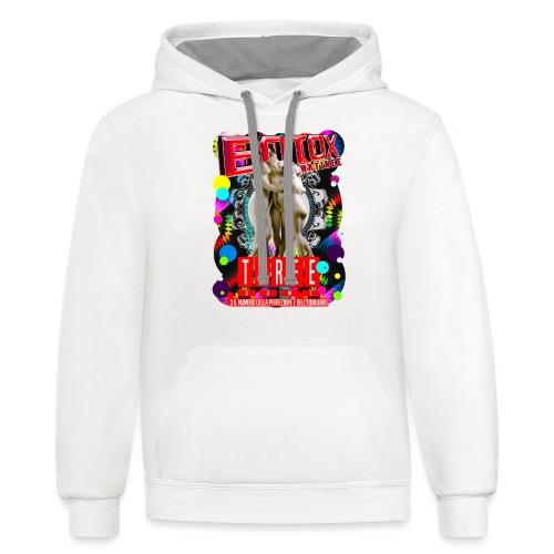 botox matinee threesome t-shirt - Contrast Hoodie
