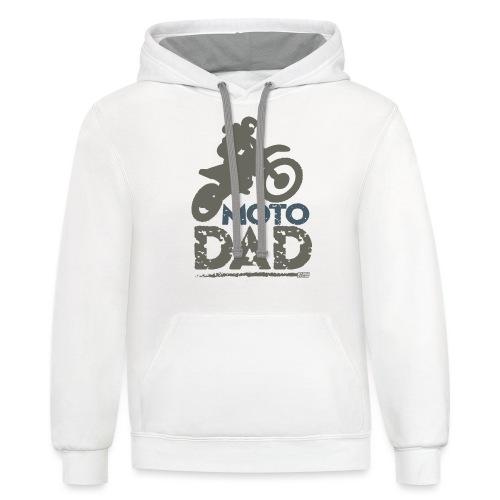 Dirt Bike Dad - Contrast Hoodie